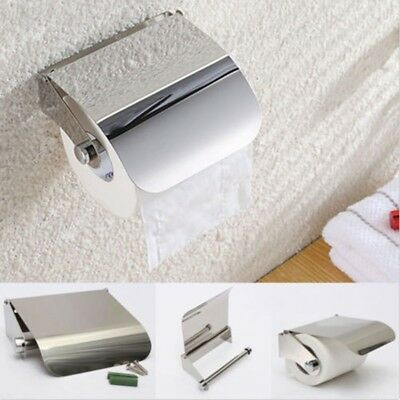 1PCS Stainless Steel Toilet Towel Roll Paper Holder Paper Case With Cover  • 6.99£