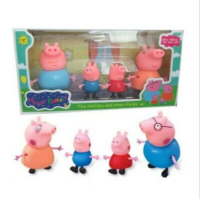 Pig Family Figures Pack Set Of 4 New Toys Kids Pepa Mummy Daddy Boys Girls • 8.99£