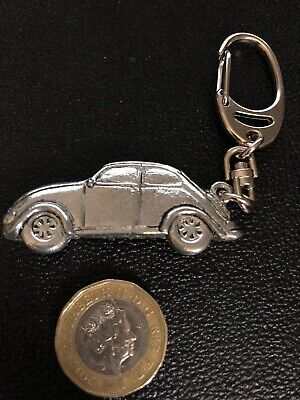 VW BEETLE VOLKSWAGEN CAR KEYRING  Real Pewter Made In England - NEW - Gift Bag  • 5.50£