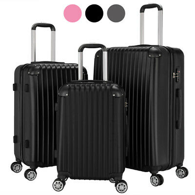 """View Details 3Pcs ABS Travel Luggage Sets Business Suitcase Trolley With TSA Lock 20/24/28"""" • 74.99$"""