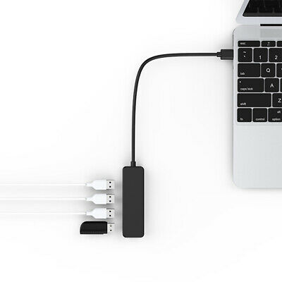 AU10.89 • Buy Ultra Thin 2.0 USB Hub Plug And Play For Laptop Computer Durable PC 4 Ports Mini
