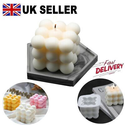 3D Silicone DIY Candles Mould Soy Wax Candle Mold Aromatherapy Plaster Candle UK • 4.95£