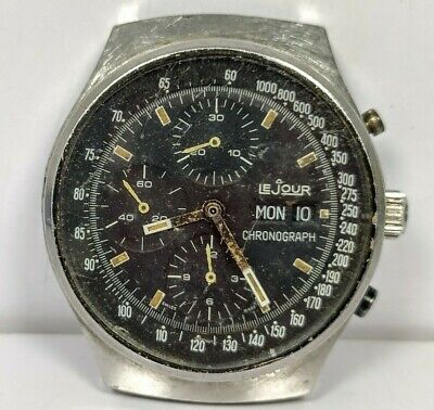 $ CDN483.67 • Buy Vintage Le Jour Chronograph 8700 Valjoux 7750 Non-working Watch
