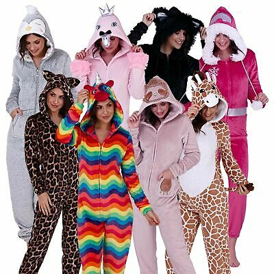 £12.95 • Buy Womans Hooded Pyjamas & Robes | Novelty Animal All-In-One Pjs | CLEARANCE SALE