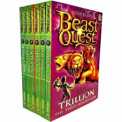 Beast Quest Box Set Series 2 The Golden Armour 6 Books Collection Set (Books 7-1 • 13.99£