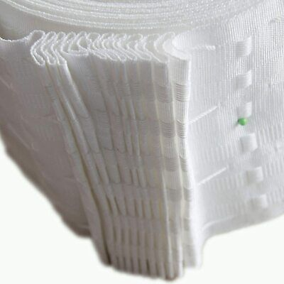 6  Inch / 152mm Rufflette White Pencil Pleat Curtain Header Tape By The Metre • 3.25£