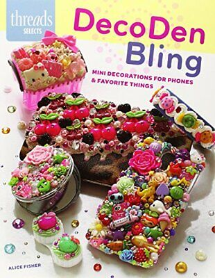 DecoDen Bling (Threads Selects) By Alice Fisher Book The Fast Free Shipping • 7.20£