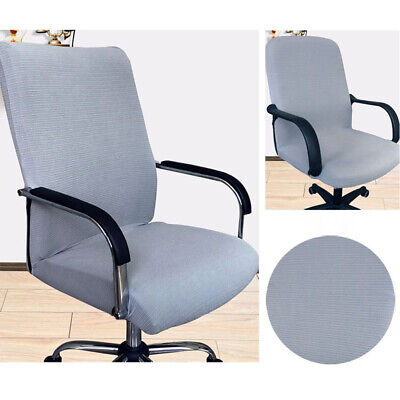 AU27.15 • Buy Stretchable Slipcovers Office Chair Cover Stripe Jacquard Computer Seat Rotating