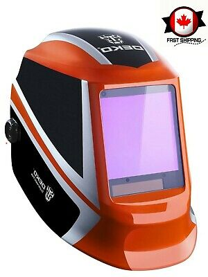 $ CDN76.03 • Buy Welding Helmet Auto Darkening Solar Powered W/ Adjustable Shade Range Wide Lens