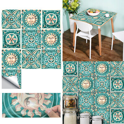 10x Kitchen Tile Stickers Moroccan Victorian Mosaic Tile Transfers Wall Sticker • 7.68£
