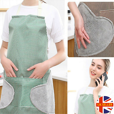 Cooking Apron With Pockets, BBQ, Baking & Catering Apron For Men Women Ladies • 4.99£