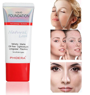 Phoera Foundation Concealer Makeup Full Coverage Matte Brighten Long Lasting Uk • 4.49£