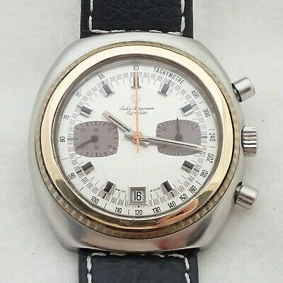 $ CDN156.59 • Buy Vintage Mens Swiss Jules Jurgenson 17j Two Register Chronograph Wristwatch Watch