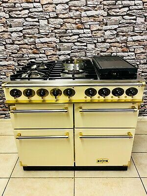 Falcon 1000 Deluxe Dual Fuel Range Cooker Cream & Brass With Wok & Hotplate • 2,350£