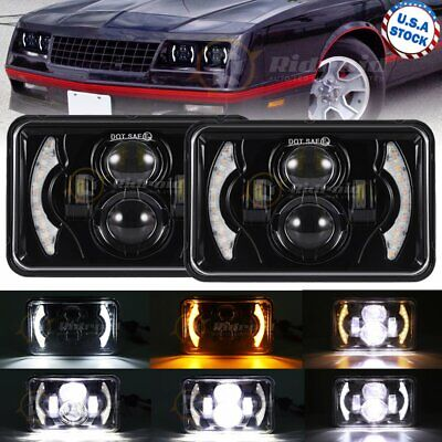 $52.99 • Buy Pair 120W 4x6  Cree Led Headlight Halo DRL For Jeep Chevrolet GMC Ford Kenworth