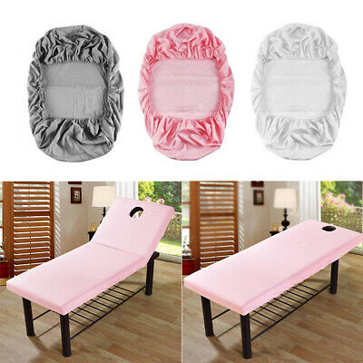 Folding Massage Table Beauty Salon Tattoo Therapy Couch Bed Cover With Face Hole • 8.95£