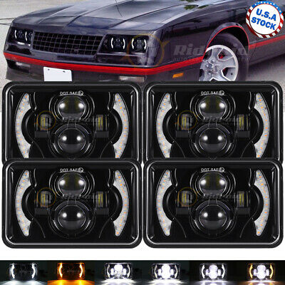 $106.99 • Buy 4X 480W Halo DRL 4x6  Cree Led Headlight For Jeep Chevrolet GMC Ford Kenworth