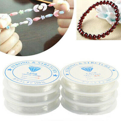 $ CDN2.28 • Buy Stretch Elastic String Cord Thread For Jewelry Making Wire Bracelet Beading New
