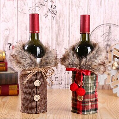 Christmas Santa Claus Outfit Wine Bottle Cover Bag Xmas Party Dinner Table Decor • 2.08£