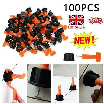 100pcs Tile Positioning Leveler System Spacer Reusable Wall Floor Tool +2 Wrench • 13.99£