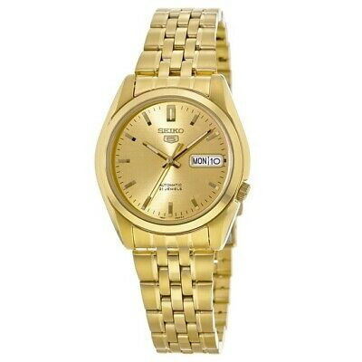$ CDN158.44 • Buy New Seiko 5 Automatic Gold Tone Stainless Steel Men's Watch SNK366K1
