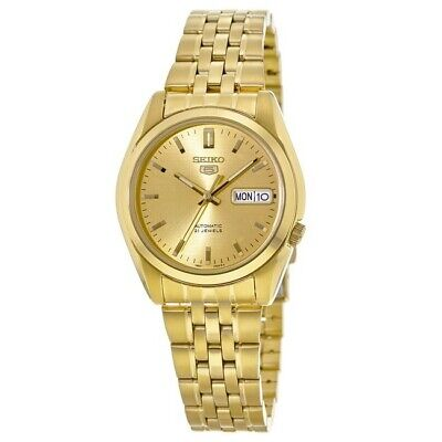 $ CDN157.75 • Buy New Seiko 5 Automatic Gold Tone Stainless Steel Men's Watch SNK366K1