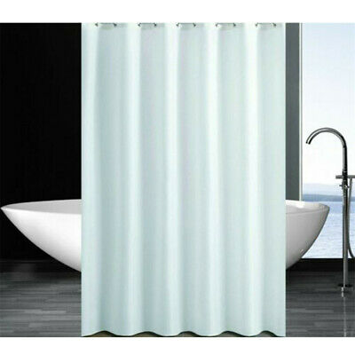 Extra Long Fabric Shower Curtain Waterproof With Hooks Weighted Hem 182x178cm UK • 4.19£