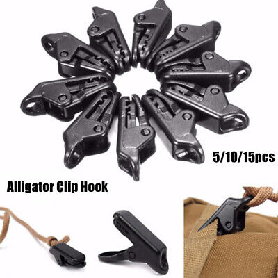 Tent Awning Canopy Clamp Alligator Clip Hook Camping Tent Tarp Clips Holder UK • 2.24£