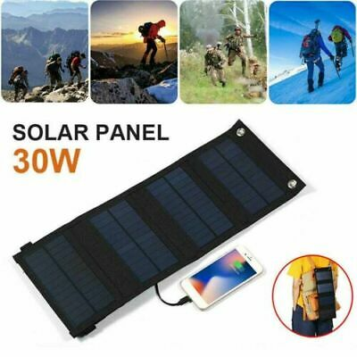 Solar Folding Panel USB Phone Charger Camping Outdoor Hiking 20W Solar Panel 30W • 15.29£
