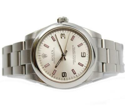 $ CDN4800 • Buy Rolex Oyster Perpetual Midsize 31mm Pink Marker Silver Dial Ladies Watch 177200
