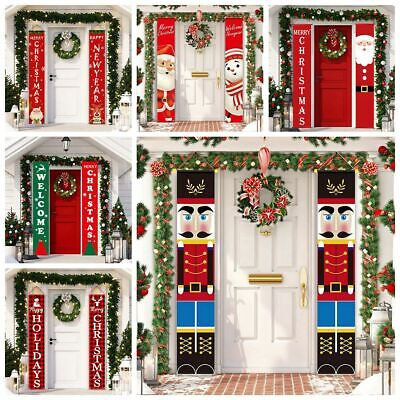 Merry Christmas Wall Hanging Banner Door Curtain Xmas Party Decoration Ornament • 6.99£