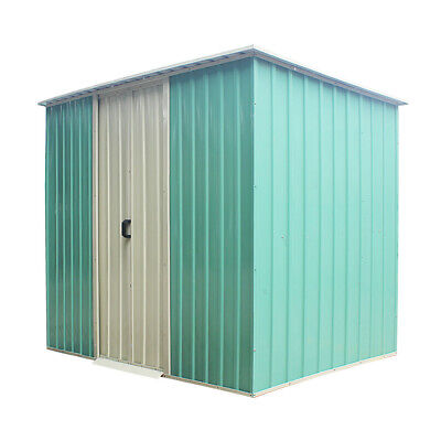 Panana 6 X 4FT New Metal Garden Shed, Pent Roof Sliding Door Tool Storage House • 179.99£