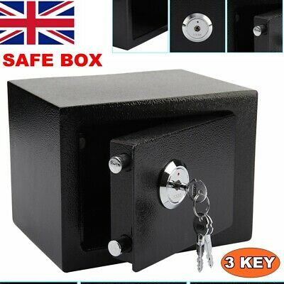 £24.79 • Buy Small Steel Safe Security Money Cash Safety Lock Box With Key For Home Office Uk