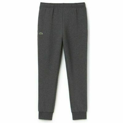 Lacoste MENS Jogging Bottoms Cuffed Charcoal Tracksuit Sports Gym Pant Size S • 44.99£