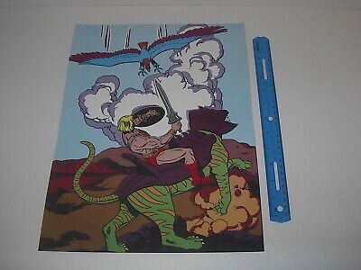 $19.99 • Buy Masters Of The Universe He-man Vs Screeech The Evil Falcon Poster Pin Up New