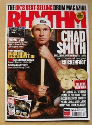 Chickenfoot Rhythm Magazine July 2009 Chad Smith Cover With More Inside Uk • 8£