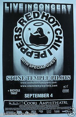 $14.51 • Buy Red Hot Chili Peppers / Stone Temple Pilots 2000 Tour San Diego Concert Poster