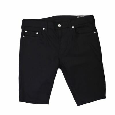 TRUE RELIGION Shorts Black Denim Stretch Rocco Skinny Size 38 VH 254 • 59£