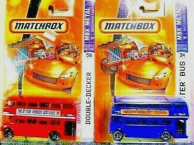 $ CDN5.35 • Buy Matchbox Double Decker/Routemaster Bus Diecast Car Lot: Color & Tampo Vary NIP