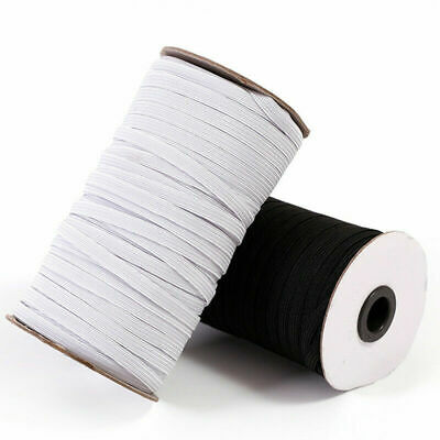 AU5.95 • Buy 6mm Wide Flat Elastic Face Mask Strap Scrunchies Sewing DIY Thin 5 Meters.