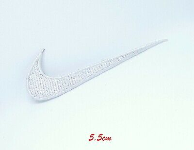 Sports Logo Badges Colourful Nike White Small Sew On Iron On Embroidered Patch  • 1.95£