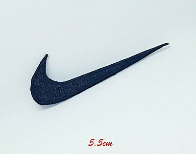 Sports Logo Badges Colourful Nike Black Small Sew/iron On Embroidered Patch  • 1.89£
