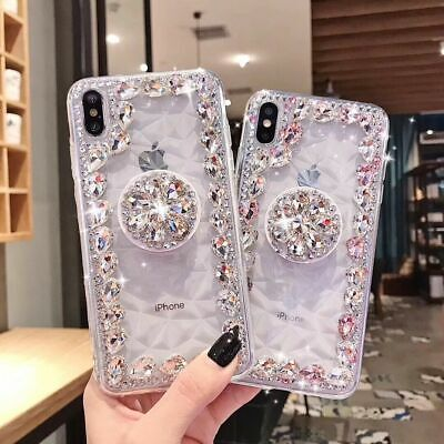 Glitter BlingPhone  Case Diamond Holder For Y5P Y6P Y7P Y8P Y6S Y6 Y7 Cover • 6.64£