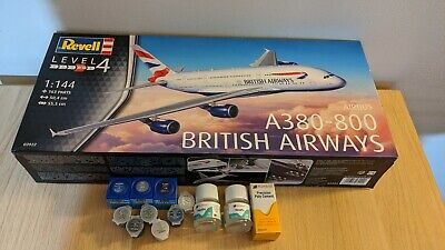 Revell Airbus A380-800 British Airways (Level 4) (Scale 1:144) 03922 With Paints • 35£