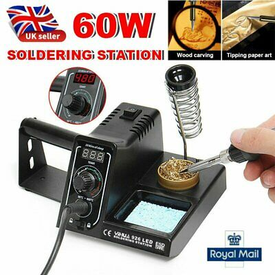YIHUA Soldering Iron Station 60W LED Digital Temperature Rework Variable Stand • 23.89£