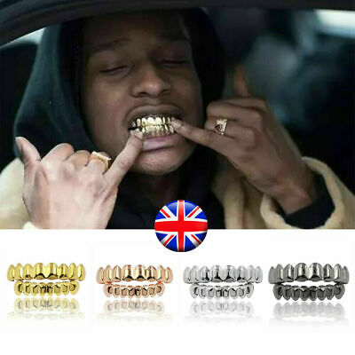 HipHop Gold Silver Grillz Tooth Cap Custom Grill Bling Jewellery Iced Out Teeth  • 3.99£