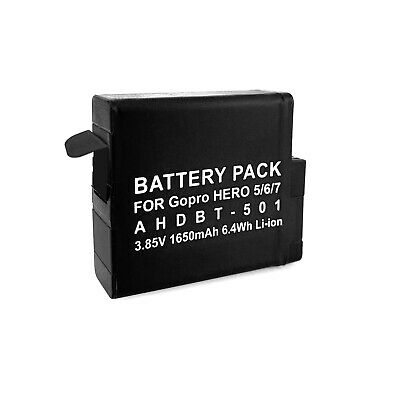 $ CDN11.41 • Buy Replacement Battery AHDBT 501 For GoPro Hero 5, 6, 7 Silver And Black Edition