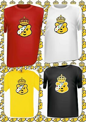 Children In Need T-Shirts In Spotted, Bear Pudsey Crown Tee 15% BBC Charity Sale • 6.99£