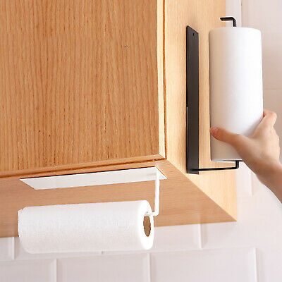 Kitchen Roll Holder Wall Mount Self-Adhesive Tissue Toilet Paper Towel Rack • 8.99£
