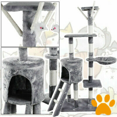 Cat Tree Activity Centre Scratching Post Tower Sisal Bed Tunnel Play House Toy • 39.87£